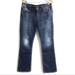 Silver Elyse Slim Boot Cut Mis Rise Jeans 31/31